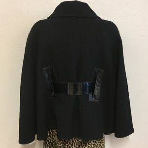 Mackage Jackets & Coats - Mackage Wool Cape, Leather Trim